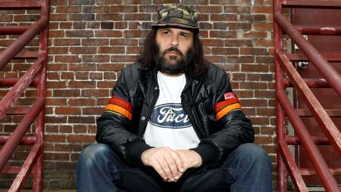"""Erik Brunetti, Los Angeles artist and streetwear designer of the clothing brand FUCT, sits for a portrait in Los Angeles, California, U.S., April 7, 2019. The Supreme Court will hear the U.S. Patent and Trademark Office's appeal of a lower court decision that the agency should have allowed Brunetti to trademark the """"FUCT"""" brand name. Picture taken April 7, 2019.  REUTERS/Patrick T. Fallon"""