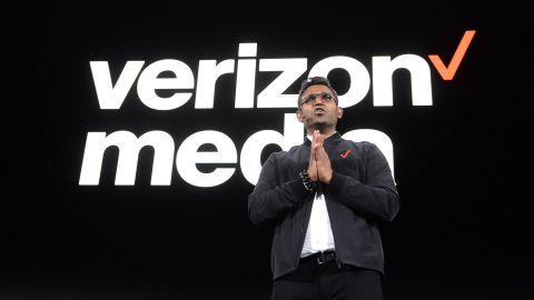 Verizon Media CEO Guru Gowrappan speaking in April in New York City.