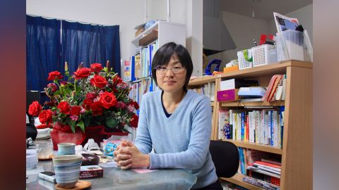 Kumamoto City Councilwoman Yuka Ogata works from home so she can also care for her young son.