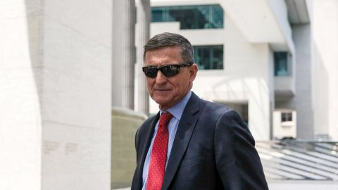 WASHINGTON, DC - JUNE 24: President Donald TrumpÕs former National Security Adviser Michael Flynn leaves the E. Barrett Prettyman U.S. Courthouse on June 24, 2019 in Washington, DC. Criminal sentencing for Flynn will be on hold for at least another two months.  (Photo by Alex Wroblewski/Getty Images)