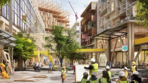 Sidewalk Labs, an Alphabet company, envisions building 30-story timber buildings in Toronto.