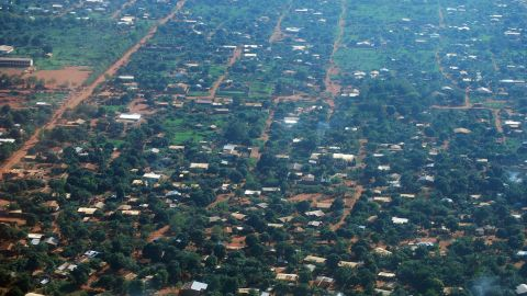 The outskirts of Bangui, CAR's capital city, are seen from the air. The Central African Republic is listed at second to last on the UN World Human Development Index.