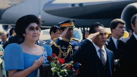 Then-Philippine President Ferdinand E. Marcos and his wife Imelda appeared in Alabama in the 1980s.