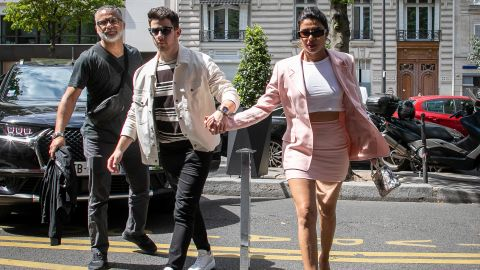 Nick Jonas and wife Priyanka Chopra on June 25 in Paris