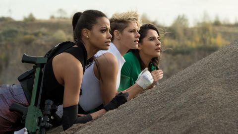 Ella Balinska, Kristen Stewart and Naomi Scott star in 'Charlie's Angels.'