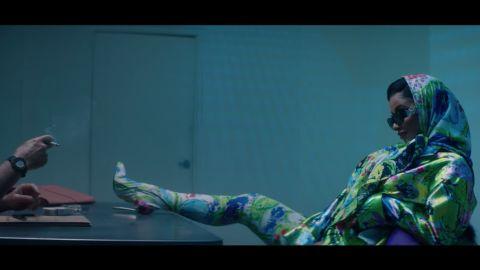 "A scene from Cardi B's ""Press"" music video."