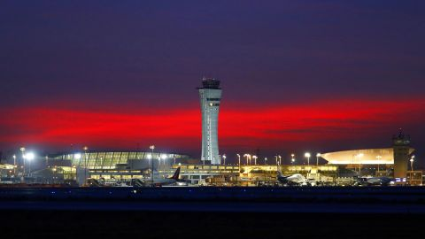 A picture taken on January 21, 2018 shows a view of Israel's Ben Gurion airport near Tel Aviv.