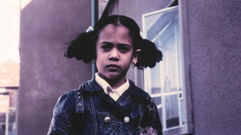 Sen. Kamala Harris tweeted this photo of herself as a young girl during the debate.