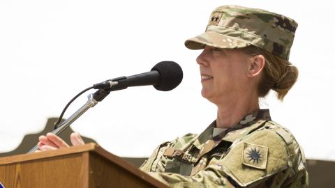 Maj. Gen. Laura Yeager assumed command of the California National Guard's 40th Infantry Division on Saturday during a ceremony at Joint Forces Training Base at Los Alamitos, California.