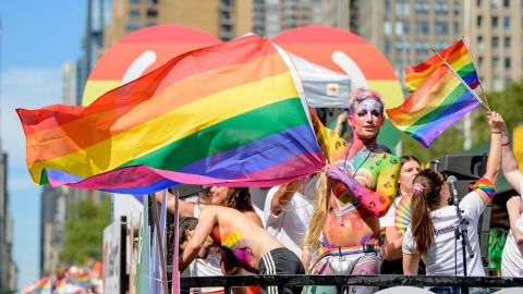 Frankie Grande attends the WorldPride celebration.