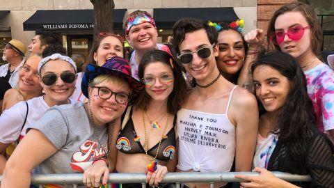 Stephen Carella's shirt honored LGBTQ activists.
