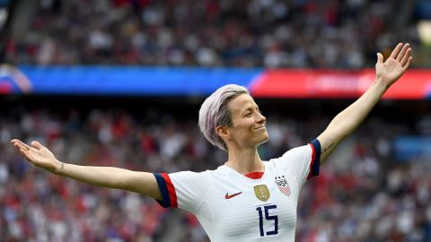 Rapinoe's goal celebration against France was the focus of much attention on social media.