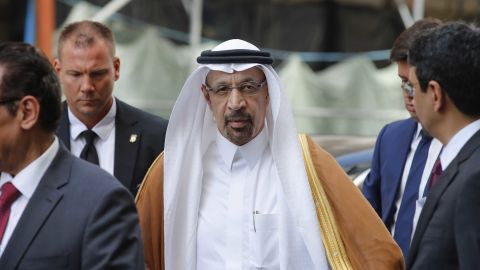 Khalid Al-Falih, Saudi Arabia's energy and industry minister, arrives for the 15th Joint Ministerial Monitoring Committee (JMMC) meeting in Vienna, Austria, on Monday, July 1, 2019. The OPEC+ alliance is poised to extend production cuts into 2020 as the world's leading oil exporters fret about a weakening outlook for global demand growth and the relentless rise in output from America's shale fields. Photographer: Stefan Wermuth/Bloomberg via Getty Images