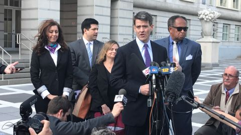 Bill Baroni, a former New Jersey Port Authority official, speaks to the press in 2016 after being convicted in connection with the Bridgegate scandal.