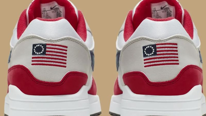 Nike cancels shoe featuring 18th century American flag