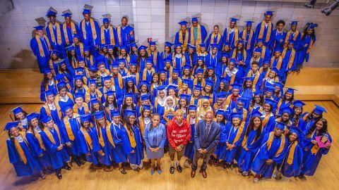 Pharrell Williams offered  internships to 114 high school graduates.