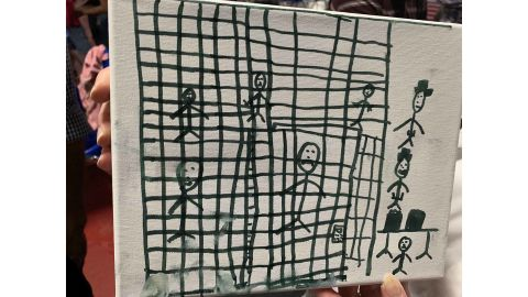 The president-elect of the American Academy of Pediatrics, Dr. Sara Goza, received the pictures from a social worker that were drawn by children recently released from CPB custody showing them in cages, according to CBS News this Morning.