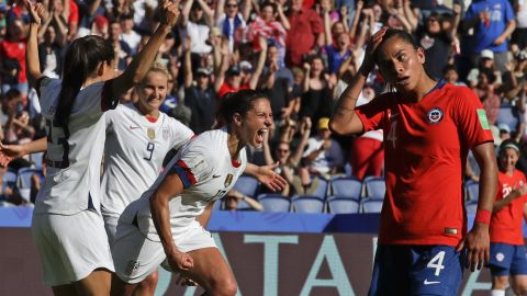 Carli Lloyd, the Golden Ball winner from the 2015 World Cup, scored the third US goal against Chile. This year, she was mostly used as a substitute.