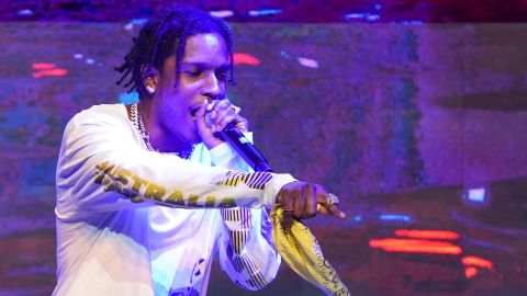 SINGAPORE, SINGAPORE - APRIL 13: A$AP Rocky performs at the MARQUEE Singapore grand opening celebration on April 13, 2019 in Singapore. (Photo by Christopher Jue/Getty Images for MARQUEE Singapore)