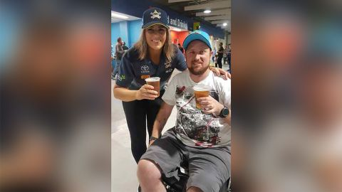 After undergoing nerve transfer surgery,  Paul Robinson, 34, was able to hold a glass of beer.