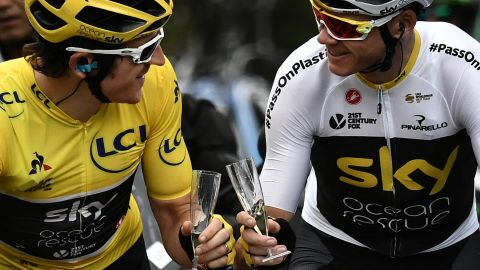It was celebrations all round last year as Thomas won the Tour with help from his Team Sky teammate Chris Froome, but there will be no repeat with Froome sidelined after a horror crash.