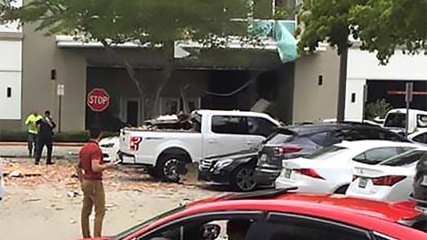 Scene of gas explosion at Plantation mall.