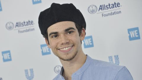 Cameron Boyce arrives at WE Day California 2019 on April 25. The event celebrated young people who worked on charitable causes.