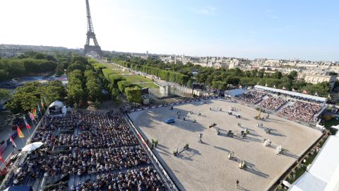 <strong>Paris:</strong> The Eiffel Tower and the Champ de Mars provided a stunning setting for round 11 of the Longines Global Champions Tour.