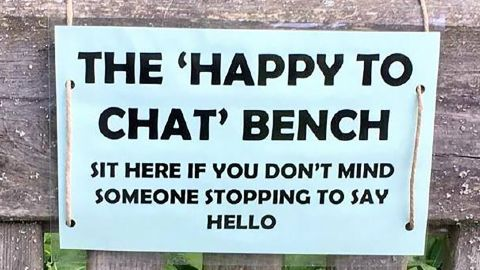 """The Avon and Somerset Police department set up """"chat benches"""" in two local parks in southwest England to help spark conversation and tackle elderly isolation."""