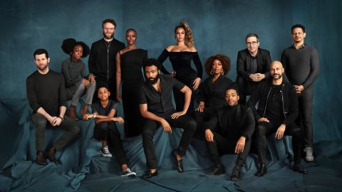 A photo of the cast members who lend their voices to characers in 'The Lion King.'