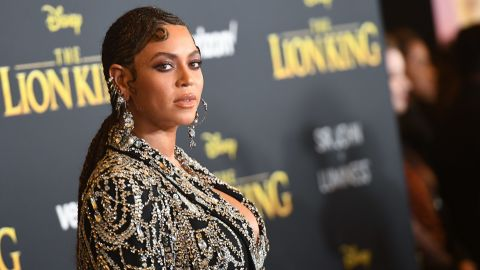 """Beyonce arrives for the world premiere of Disney's """"The Lion King"""" at the Dolby theater in Hollywood."""