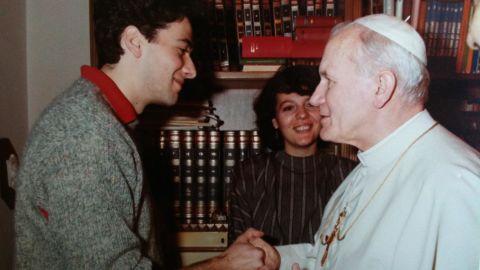 Pietro Orlandi meeting with Pope John Paul II before Emanuela went missing.