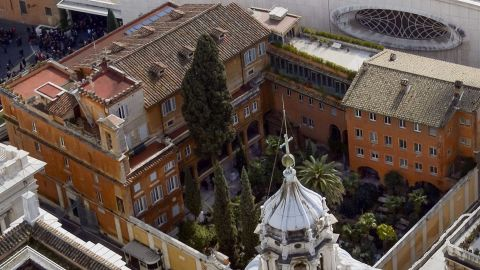The Teutonic Cemetery in Vatican City where two tombs will be exhumed Thursday.