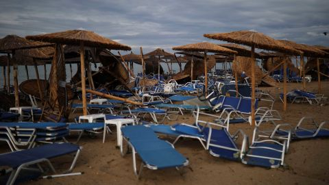 Six people were killed in the freak storm that hit northern Greece Wednesday.