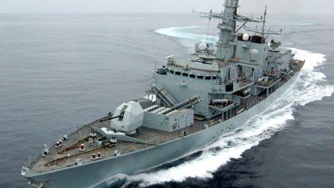 Royal Navy frigate HMS Montrose escorted the tanker through the Straits of Hormuz. (File photo)