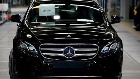 MOSCOW, RUSSIA - MAY 21: A Mercedes-Benz vehicle is seen at Mercedes-Benz's automobile factory, which was built by Turkish company Esta Construction in 18 months and has started production last month, in Moscow, Russia on May 21, 2019. (Photo by Sefa Karacan/Anadolu Agency/Getty Images)