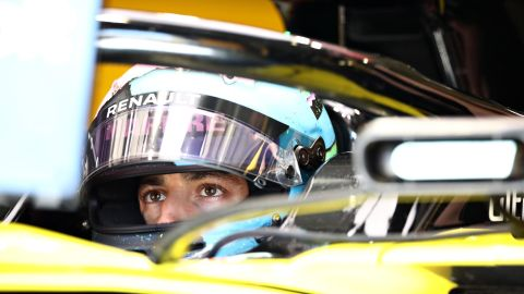 SPIELBERG, AUSTRIA - JUNE 28: Daniel Ricciardo of Australia and Renault Sport F1 prepares to drive in the garage during practice for the F1 Grand Prix of Austria at Red Bull Ring on June 28, 2019 in Spielberg, Austria. (Photo by Bryn Lennon/Getty Images)