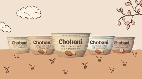 The new product line pairs Greek yogurt with nut butters.