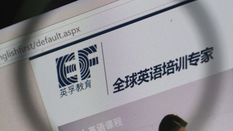 The website of EF Education First (EF), who had a number of foreign teachers and students arrested by Chinese police in the past week.