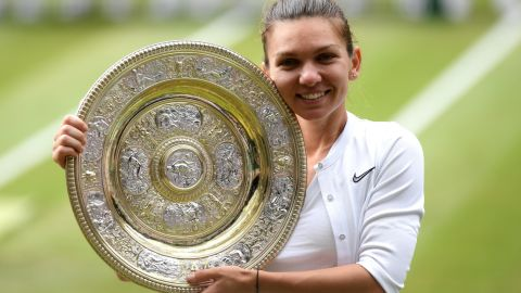 Simona Halep of Romania was winning her second grand slam title after a comprehensive 6-2 6-2 beating of Serena Williams in the Wimbledon women's singles final.