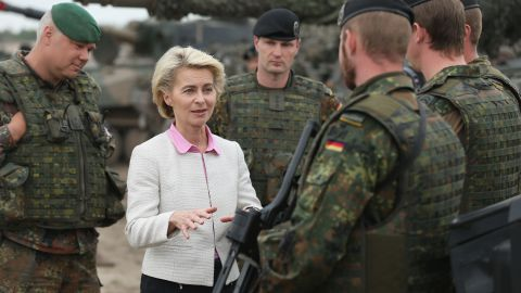 """Some German media outlets say it's """"good news"""" for the military that von der Leyen is leaving her position as defense minister."""