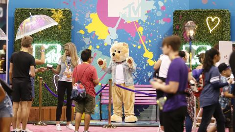 An MTV booth at VidCon.