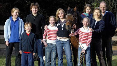 Ursula von der Leyen is pictured with her  husband Heiko von der Leyen and their seven children.