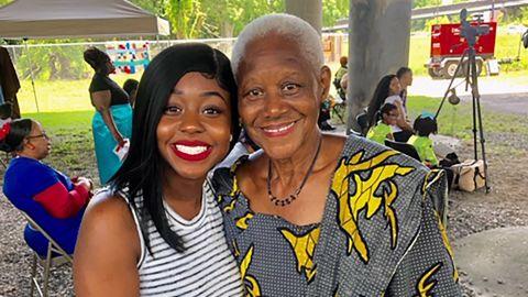 Myra Richardson and Sadie Roberts-Joseph at the City of Baton Rouge's Juneteenth celebration.