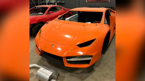 Police said the father and son sold the fake Ferraris and Lamborghinis through social media.
