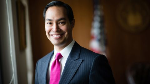 Julián Castro is pictured at his office in 2014. At the time, he was secretary for the Department of Housing and Urban Development.
