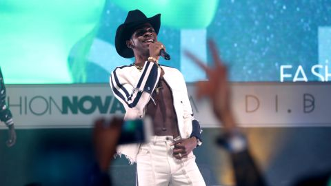 LOS ANGELES, CA - MAY 09:  Lil Nas X performs onstage as Fashion Nova Presents: Party With Cardi at Hollywood Palladium on May 9, 2019 in Los Angeles, California.  (Photo by Jerritt Clark/Getty Images for Fashion Nova)