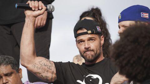 Puerto Rican singer Ricky Martin joined protesters demanding Gov. Ricardo Rossello resign.