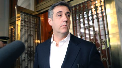 Michael Cohen, the former personal attorney to President Donald Trump, prepares to speak to the media before departing his Manhattan apartment for prison on May 06, 2019 in New York City.