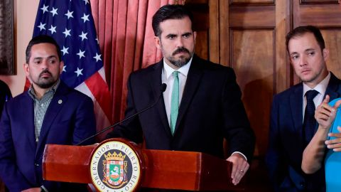 Rosselló called for a press conference hours after police clashed with protesters.